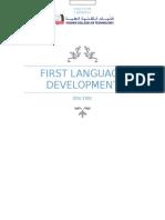first language development report