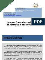 Formation Des Mots Français