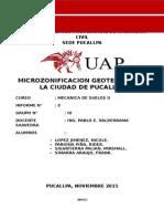 Estudio de Microzonificacion- Shirambary - Yarinacocha