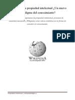 Wikipedia y La Propiedad Intelectual