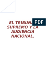 Tribunal Supremo y Audiencia Nacional