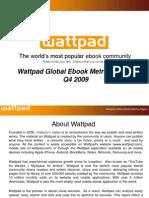 Wattpad Global eBook Metrics Report Q4 2009