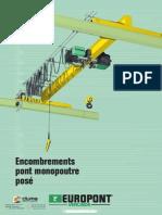 Verlinde Dimensions Pont Roulant Monopoutre