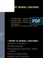 Blast Model Checker