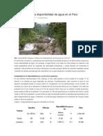 El Problema de La Disponibilidad de Agua en El Perú