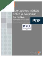 Aportaciones teóricas sobre la evaluación formativa