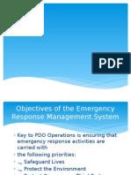 Emergency responses in marine
