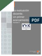 La evaluación docente. Un primer acercamiento