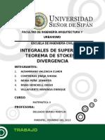 Integrales de Superficie Teorema de Stokes y Divergencia