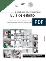 Guia guia del mestro de Español examen