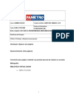 Modelo Position Paper PSICOLOGIA