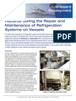 Hazards during the Repair and Maintenance of Refrigeration Systems on Vessels
