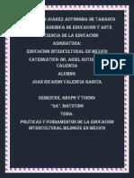 16. Políticas y Fundamentos de La Educación Intercultural Bilingüe en México