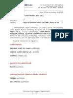 Carta de Presentacion - DICOMET PERU SAC