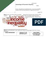 understandings of economic equality