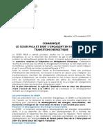 CESER et ERDF, Cop 21 et transition énergétique