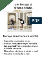menajul si mentenanta in hotel