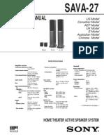 Sony SAVA27 Service Manual