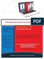 Flyer - Information Governance and Asset Management