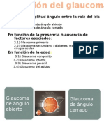 Tipos de Glaucoma; clasificación
