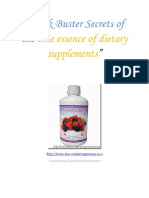 Block Buster Secrets of the True Essence of Dietary Supplement 1
