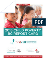 First Call - 2015 BC Child Poverty Report Card