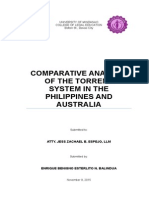 sample Cover Page Comparative Analysis Balindua