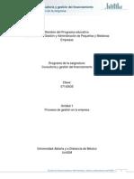 Unidad 1. Procesos de Gestion en La Empresa