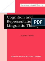 Antoine Culioli Cognition and Representation