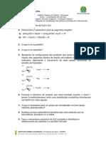 Lista de Exercicios de Reaçoes SN1SN2