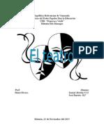 Historia del Teatro.