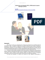 Comparacion Constituciones Venezuela 1961 y 1999 Aspecto Ideologico Politico