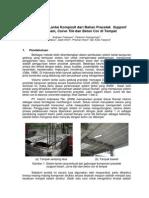 Beton - Support Beam & Curve Tile Precast