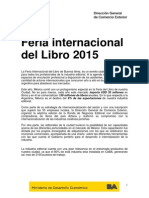 Informe resultados ronda editorial | Feria del Libro