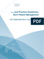 Burn Patient Management - Clinical Practice Guidelines