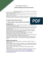 Temario. Ciencias Politicas YSociales (I y II)