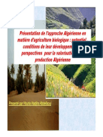 L'approche Algérienne en Agriculture Biologique
