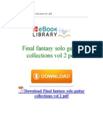 Final Fantasy Solo Guitar Collections Vol 2 PDF