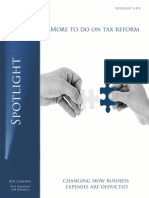 Spotlight 473 More to do on tax reform