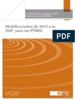 2015 Amendments to IFRS for SMEs Spanish Standard