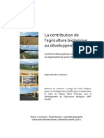 La Contribution de L_agriculture Biologique Au Developpement Local
