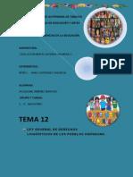 12.RESUMEN LEY GENERAL DE LOS DERECHOS LINGUISTICOS