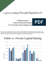 Capital Raising Regulation D SEC Vladimir Ivanov
