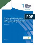 Pre Hospital Emergency Care KPIs Oct 2012