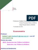 Econometria2014-ApresentacaoCurso