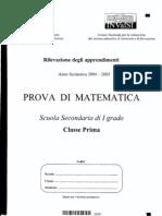 INVALSI 1° media Matematica 2004-05