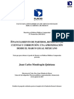 Financiamiento de Partidos, Rendicion de Cuentas y Corrupcion en Mexico Mondragon