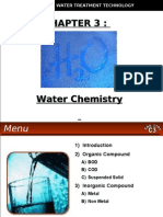 WATER TREATMENT TECHNOLOGY (TAS 3010) LECTURE NOTES 3 - Water Chemistry