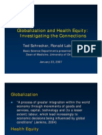 Globalization & Health Equity Investigating the Connections_Schrecker & Labonte_ 23 Jan 07