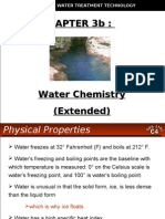 WATER TREATMENT TECHNOLOGY (TAS 3010) LECTURE NOTES 3b - Water Chemistry Extended